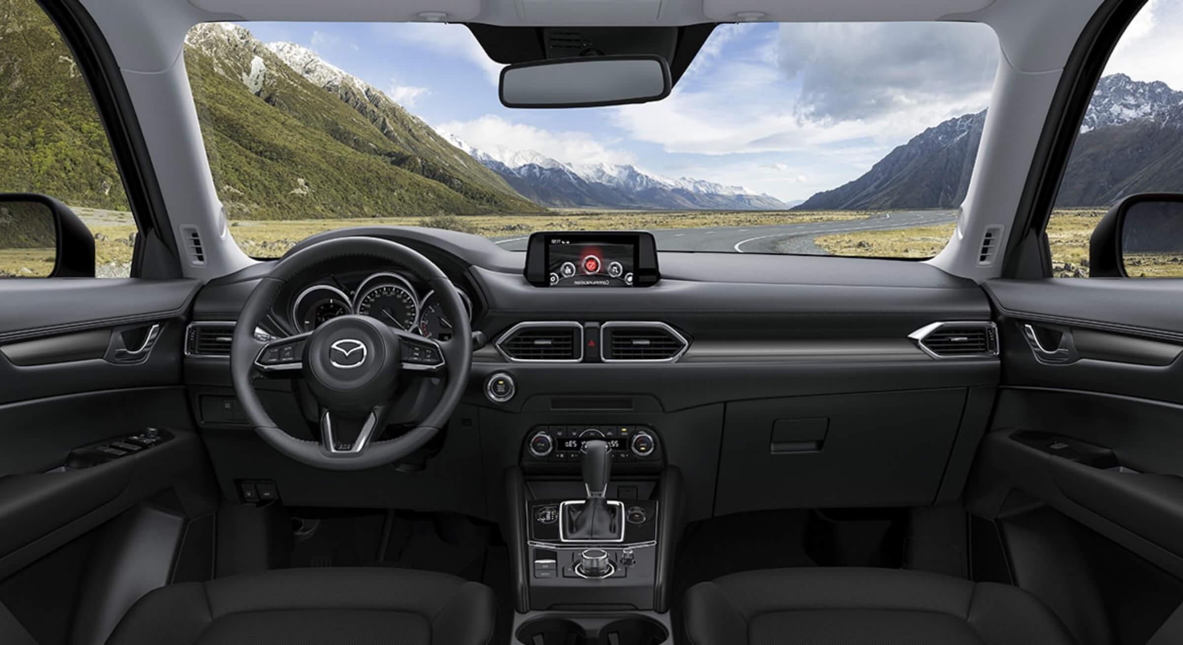 Black Leatherette Mazda Cx5 Interior Foto 2