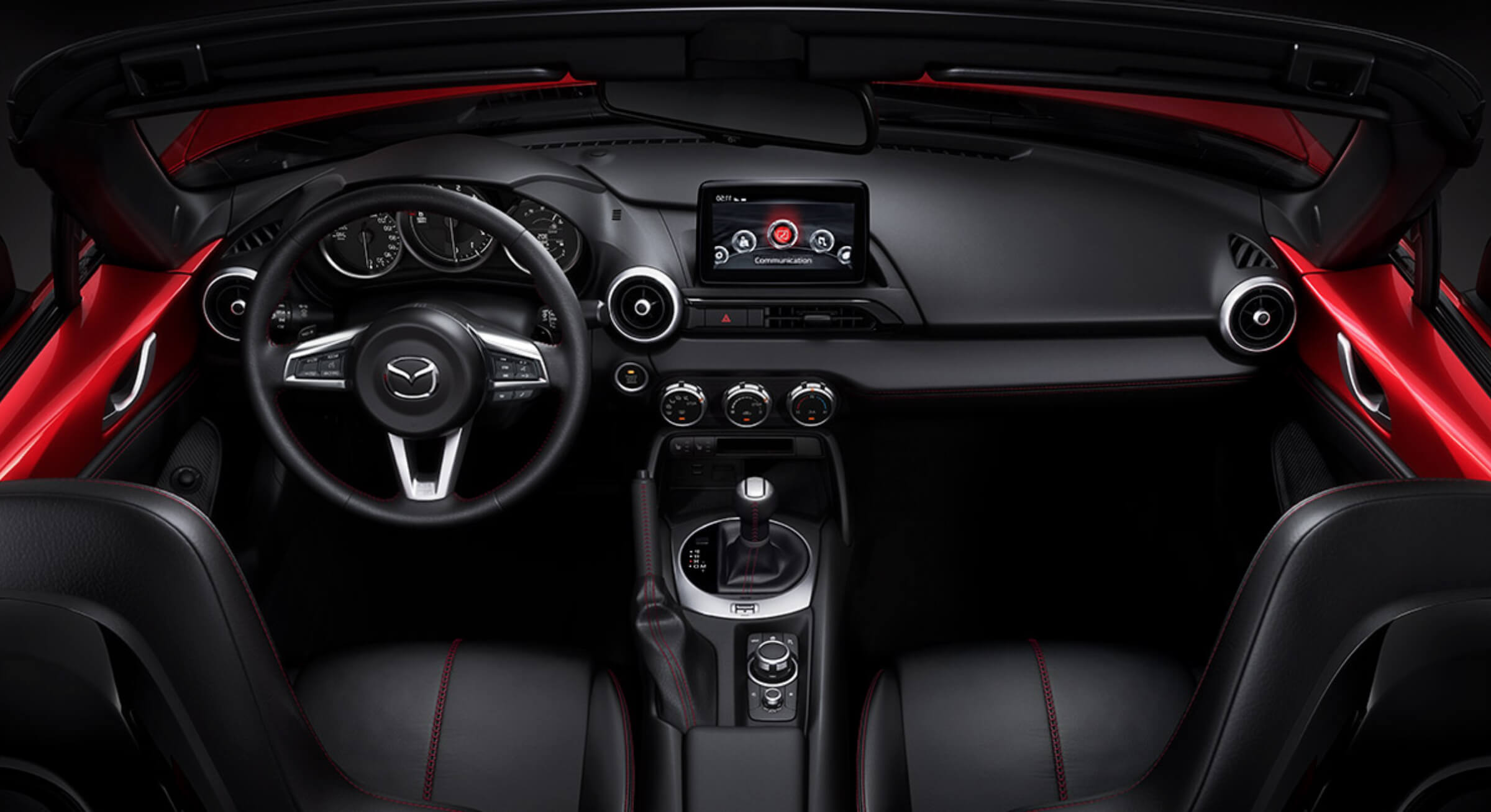 Black Leater Mazda Mx5 Interior Foto 3 (1)