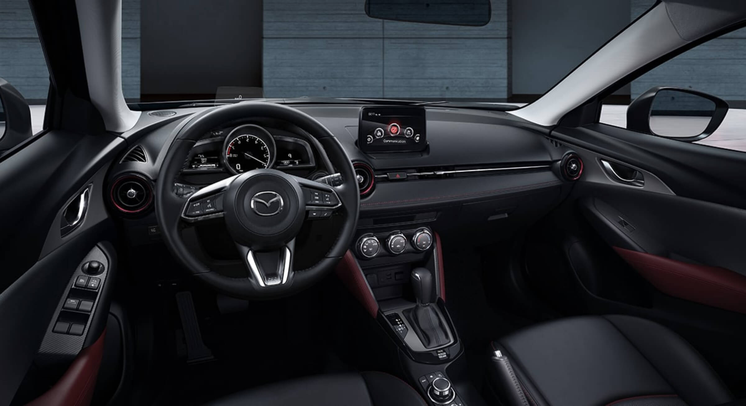 Black Leatherette Mazda Cx3 Interior Foto 3