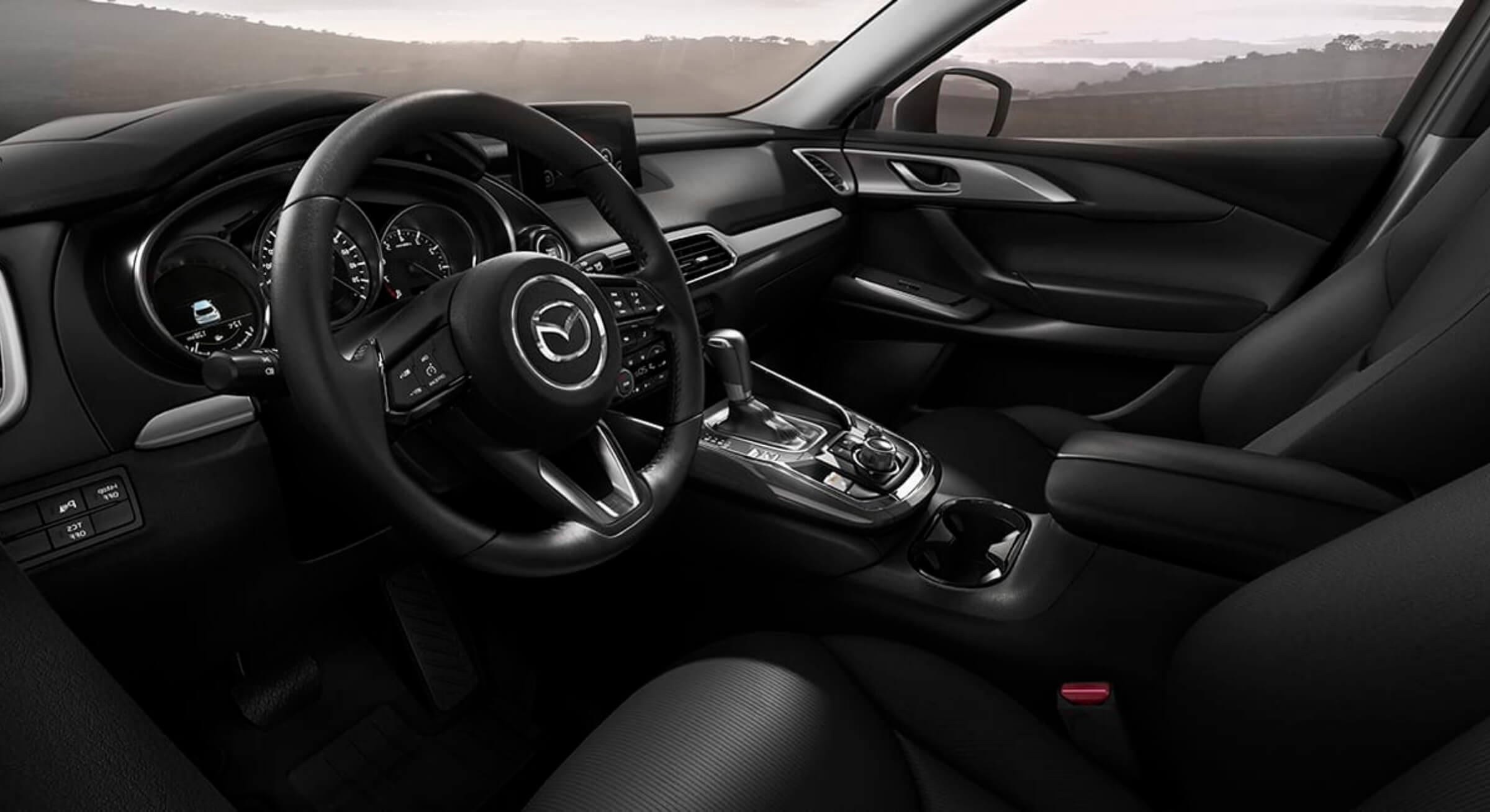 Black Cloth Mazda Cx9 Interior Foto 1