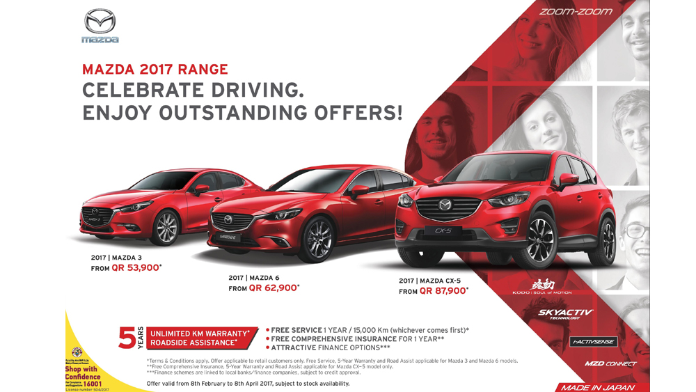 MAZDA  2017 RANGE – NATIONAL CAR COMPANY ANNOUNCES OUTSTANDING OFFERS